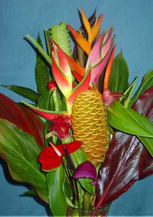 Tropical bouquets perla farms