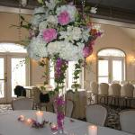 Roses,hydrangeas,Ivy centerpieces. order your wedding flowers from perla farms save money doing your wedding flowers.