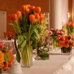tullips centerpiece perla farms wedding flowers nationwide delivery.